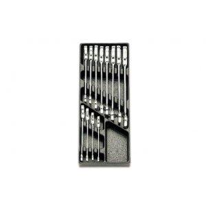 Set Chei Combinate cu Clichet Rabatabil T46 17 Piese