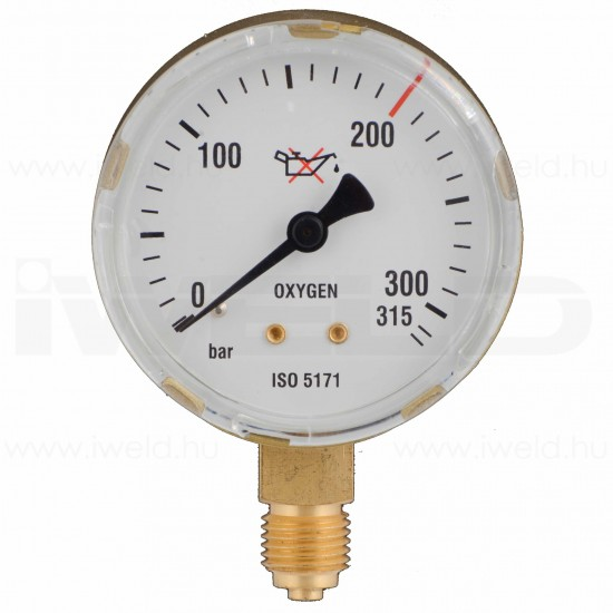 Manometru Oxigen 200 bar 63mm