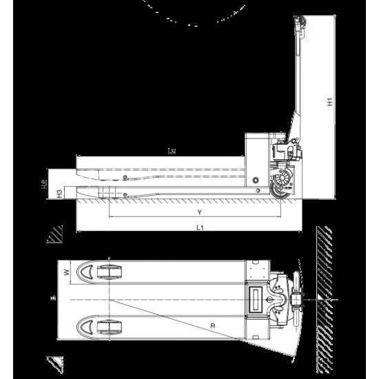 Transpalet Electric Hybrid 1500Kg ET15MH-P