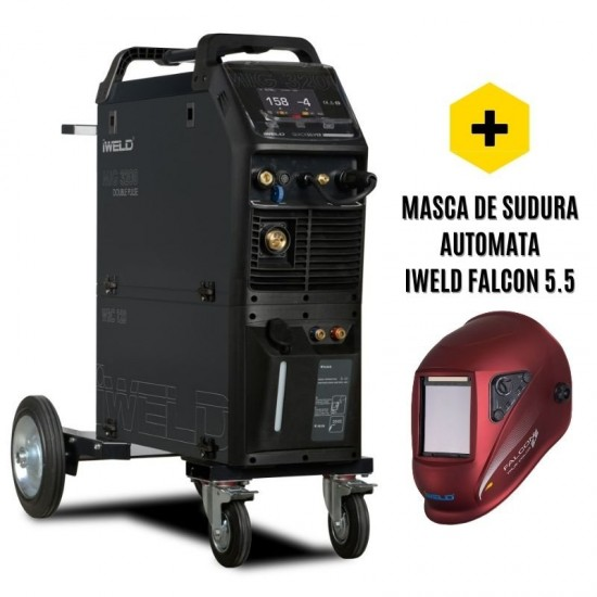 IWELD MIG 3200 Double Pulse, 300A, 380V, accesorii incluse