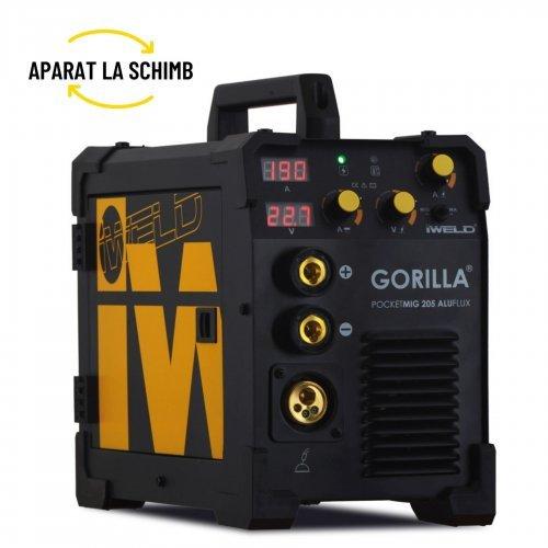 IWELD POCKETMIG 205 ALUFLUX,  aparat de sudura semi-profesional, 190A, 230V, otel, inox si aluminiu, accesorii incluse