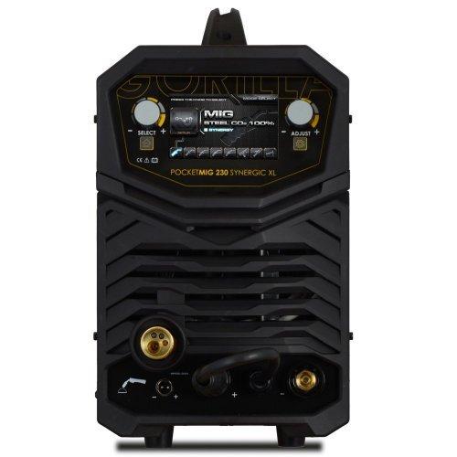IWELD POCKETMIG 230 Synergic XL, aparat de sudura semi-profesional, 220A, 230V, otel, inox si aluminiu, Synergic si accesorii incluse