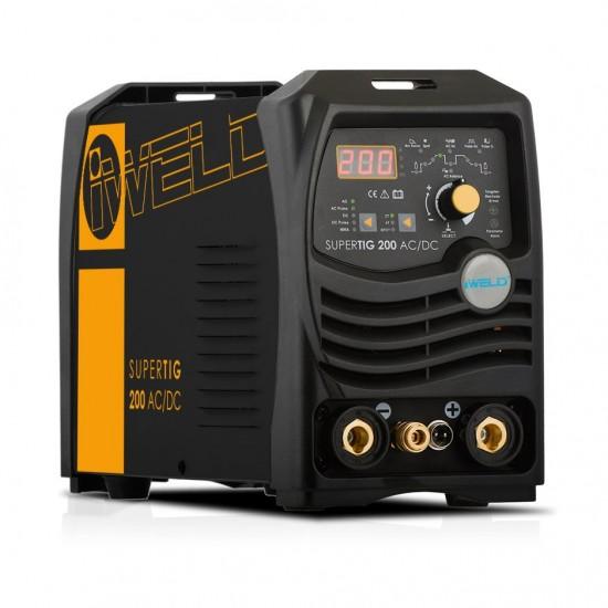 IWELD SUPERTIG 200 AC/DC Digital, butelie argon 10l, reductor co2/argon