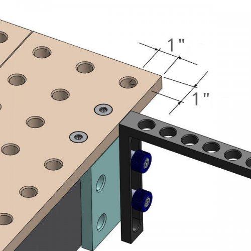 Extensie laterala pentru masa de sudura BuildPro si Rhino Cart