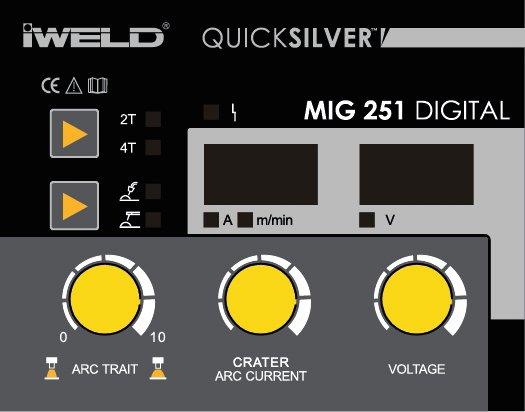 IWELD MIG 251 DIGITAL, aparat de sudura MIG MAG-MMA profesional, 250A, 230V, accesorii incluse