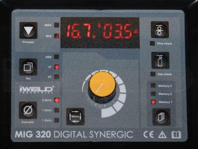 IWELD MIG 320 SYNERGIC Aparat de sudura profesional MIG MAG / MMA, 300A, Synergic, 400V, accesorii incluse