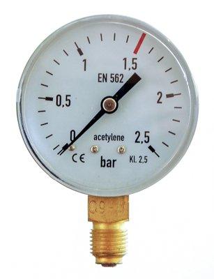 Manometru Acetilena 2.5/1.5 bar 63mm