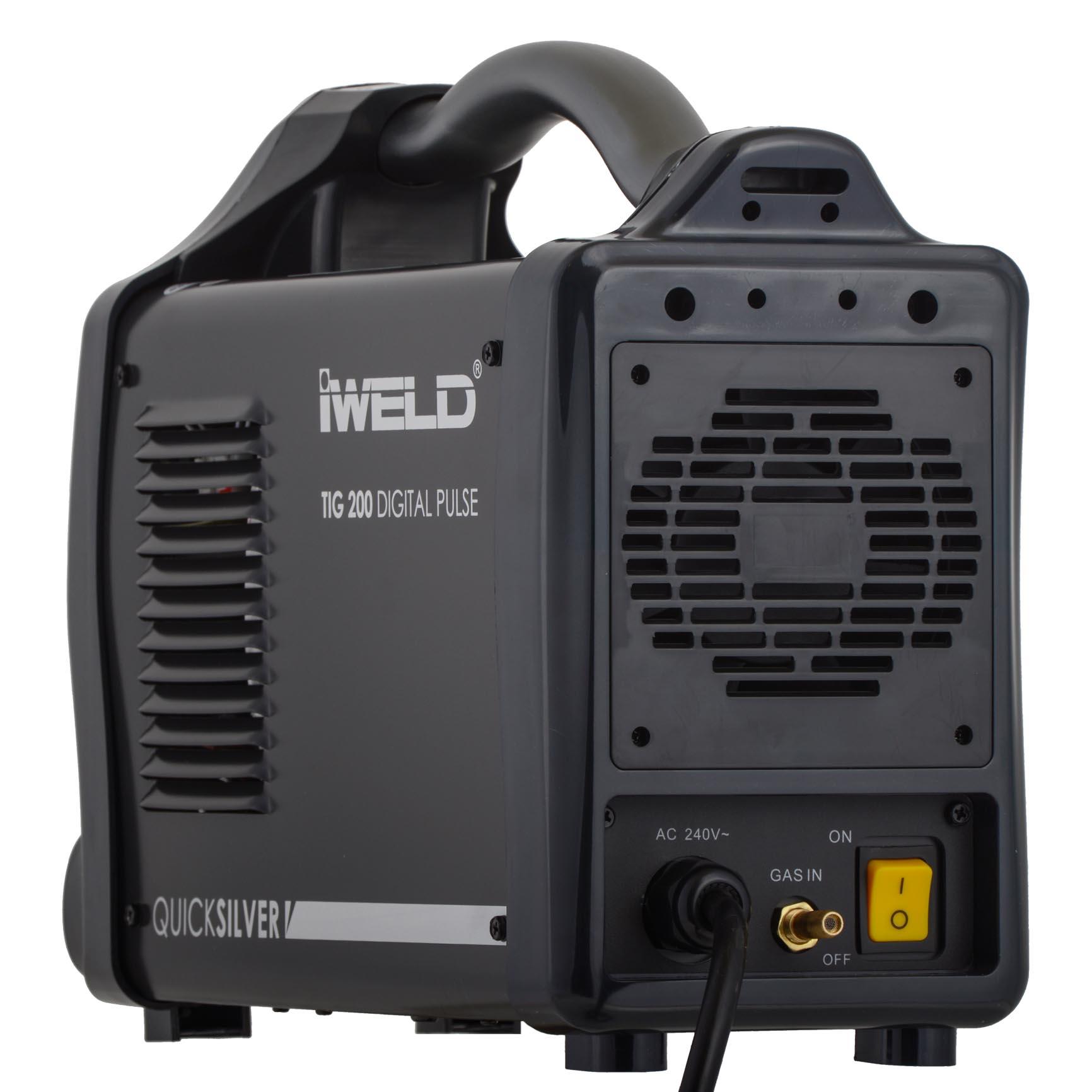 IWELD TIG 200 Digital Pulse, 200A, 10 programe, accesorii incluse