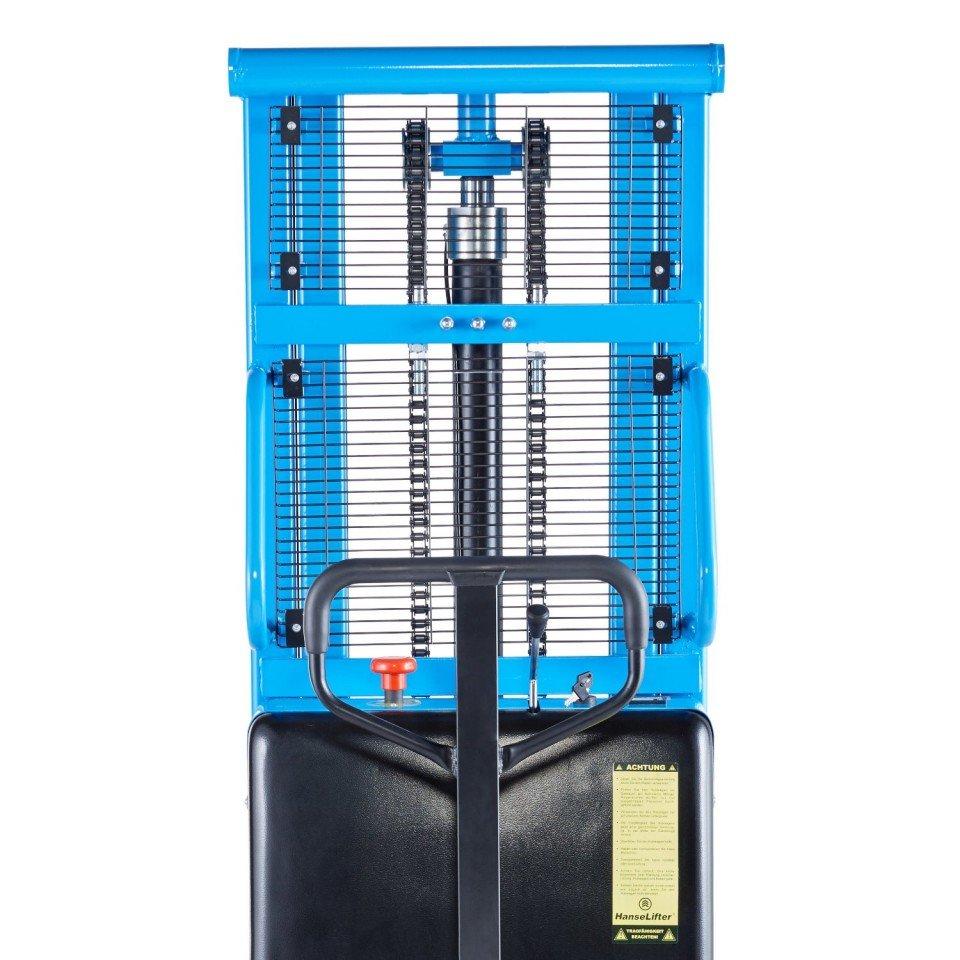 STIVUITOR SEMI-ELECTRIC SPN1016 , CAP. 1.000 KG, H: 1600mm