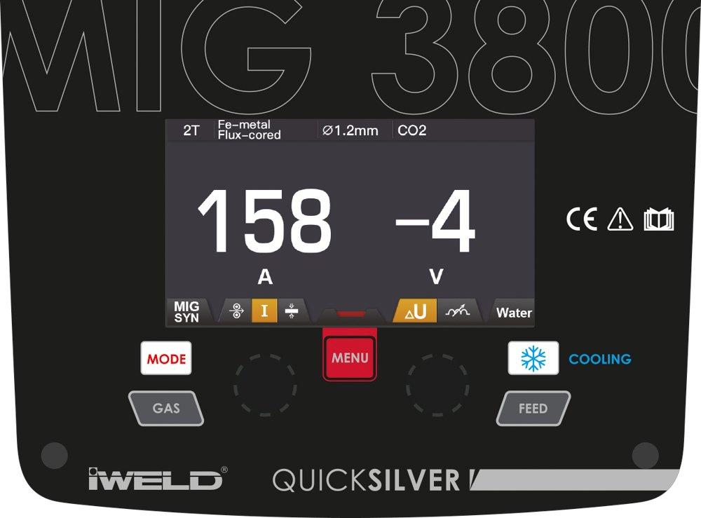 IWELD MIG 3800 Synergic Invertor sudura racire cu apa, 350A, 400V + masca automata + butelie 20L + reductor