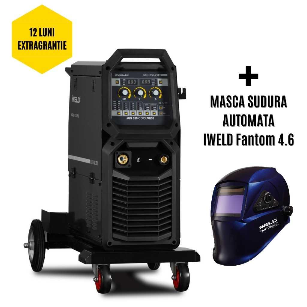 IWELD MIG 320 COOLPULSE Compact Aparat de sudura profesional MIG MAG , 300A, 400V, accesorii incluse