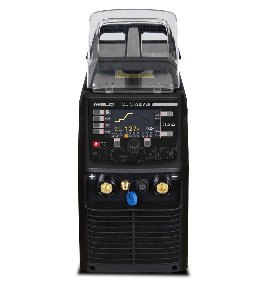 IWELD TIG 2400 AC DC PFC Invertor, 200A, Pistolet cu potentiometru, 220V, accesorii incluse.