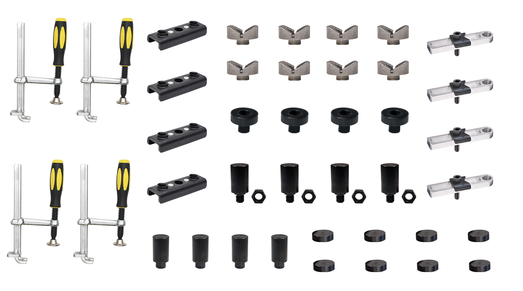 Kit Profesional Masa Sudura + 40 Accesorii pentru fixarea a patru tevi rotunde / patrate FixturePoint