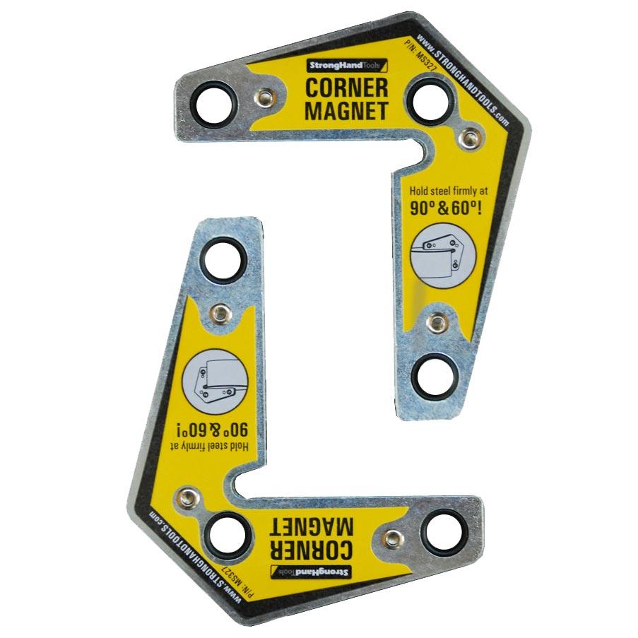 Set 2 Vincluri magnetice int./ext. pentru fixare in unghi 60° / 120° / 90°, forta 14 kg, MST327
