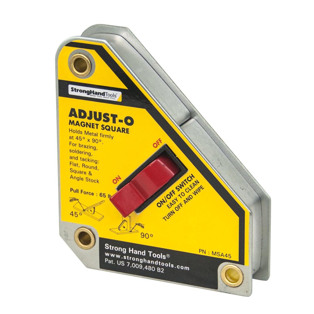 Vinclu Magnetic cu Buton Adjust-O™, Forta 30 kg, Unghi 45°/90°