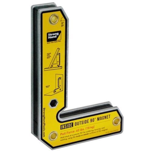 Vinclu magnetic int./ext. pentru sudura in unghi de 30°/60°/90°, forta 18kg